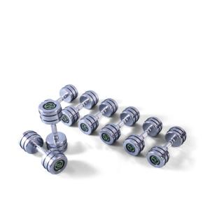סט משקולות אימון - דמבלים - כרום (AZS2311)